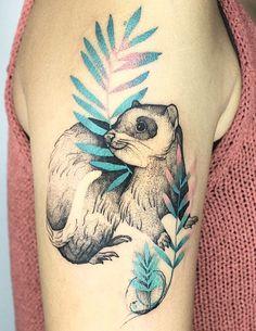 Joanna Swirska Dzo Lama ferret tattoo