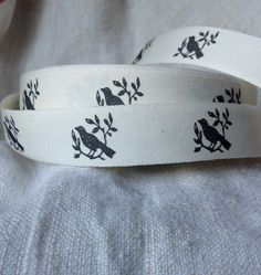 printed cotton ribbon by ShyMyrtle on Etsy, $2.00