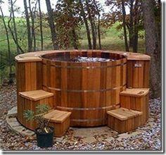 Hey...I can dream :)  wood burning hot tub