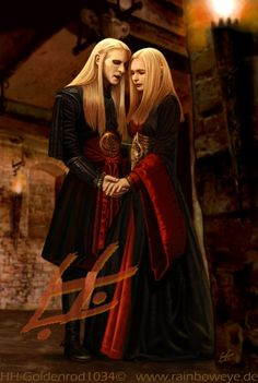 A Still of Nuada and Nuala twin Elves from the movie Hellboy II: The Golden Army