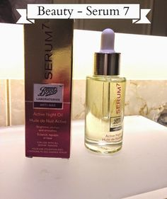 #Beauty, Olio attivo notte Serum 7 - Antietà efficace ! Activ night Oil  Serum 7 by Boots Laboratories,  #beautyblogger  #review #beautyblog  #lifestyle #treatment #seurm #beautytips #facecare #bellezza #cosmesi #cosmetics