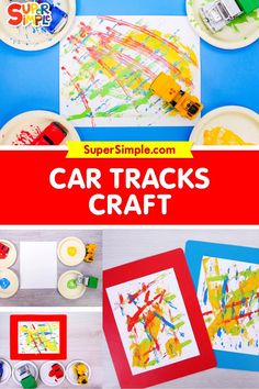 Calling all toy cars and trucks, we have a job to do! It's time to get crafty! This is a super simple craft that is sure to please. What you need: -Toy cars -White paper -Craft Paint -Paper Plates Art Activities For Kids, Toddler Preschool, Preschool Crafts, Easy Crafts For Kids, Easy Diy Crafts, Art For Kids, Toddler Snacks, Toddler Art, Diy Projects