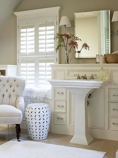 I love the setup of the sink and storage cabinet! It saves space without giving up too much storage.