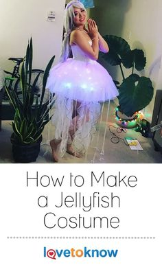 Jellyfish are eerily beautiful creatures and they can be the visual inspiration for costumes for all ages. Great for Halloween, a school pageant, a parade, or a play, these costumes are something everyone can craft at home. | How to Make a Jellyfish Costume from #LoveToKnow