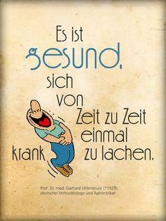 'Krank lachen ist gesund' von Dirk h. Wendt bei artflakes.com als Poster oder Kunstdruck $19.41