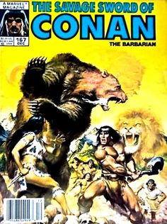 """CONAN"" the barbarian ~ vol 1, #167, Dec 1989"