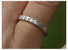 The braille ring, printed in Sterling Silver