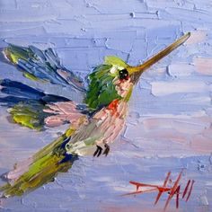 Hummingbird No. 10, painting by Delilah Smith