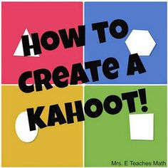 To Create a Kahoot! How to Create a Kahoot! A fun formative assessment that keeps kids engaged Teacher Games, Classroom Games, School Classroom, Classroom Management, Teacher Resources, Google Classroom, Math Games, Management Games, Online Classroom