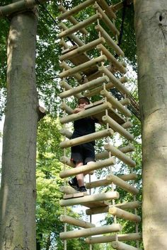 Four-Sided Rope Ladder | 15 Awesome Treehouse Ideas For You And the Kids!