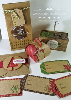 Marelle Taylor Stampin' Up! Demonstrator Sydney Australia: Christmas Tags, Bags and Gift Boxes
