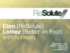Better on Foot with Elon (Resolute Label, NYC) at Red Maple