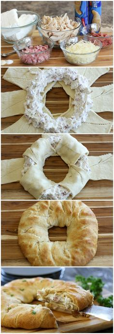 Chicken Cordon Bleu Crescent Ring #pillsbury