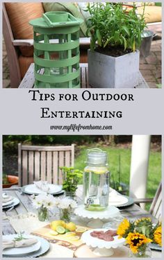 Tips for Outdoor Entertaining | Creating a comfortable and stylish place for guests to enjoy | My Life From Home | www.mylifefromhome.com