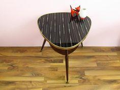 Vintage Nierentisch, 50er 60er Jahre, Glas von ShabbRock Republic auf DaWanda.com