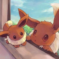 Mini-Me ... eevee, plush eevee, pokemon
