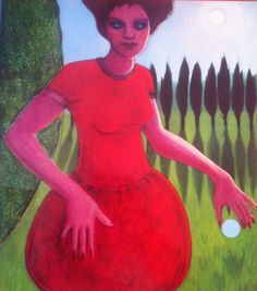 Tippy Waterdance, 120x 100cm, oil on canvas ©erminepoort