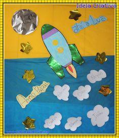 Painel Foguete Para Educação Cósmica ou Dia dos Pais Adivinha Quanto Eu Te Amo