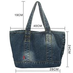 Vantoo Distressed Unisex Denim Handbag Shoulder Bag with two pockets for men and . - Vantoo Distressed Unisex Denim Handbag Shoulder bag with two pockets for men and …, - Denim Tote Bags, Denim Purse, Denim Bags From Jeans, Diy Jeans, Recycle Jeans, Jeans Recycling, Jean Purses, Purses And Bags, Denim Ideas