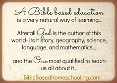 BibleBasedEducation- a great post on her daily schedule teaching from the Bible