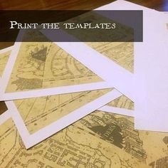 "Marauder's Map on standard 8.5x11"" paper - Picture of Print the Templates and Cut Them Out"