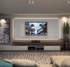 Living room tv wall ideas on living room wall walls ideas entertainment wall on living room . Living Room Tv Unit, Living Room Modern, Home Living Room, Living Room Designs, Living Room Decor, Tv Wall Ideas Living Room, Apartment Living, Cozy Living, Living Room Walls
