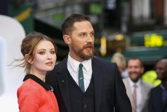 Tom Hardy and Emily Browning at the Legend World Premiere at Odeon Leicester Square, London, 03/09/15.