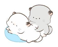 Cute Love Pictures, Cute Love Gif, Cute Cat Gif, Cute Images, Cute Couple Cartoon, Cute Cartoon Pictures, Cute Couple Art, Bisous Gif, Animiertes Gif