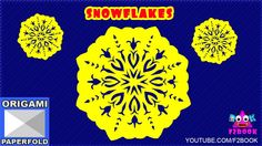 How to make paper snowflakes for kids step by step - By F2BOOK Video 74