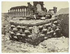 Fallen capital from Temple of Palmyra, Syria, date unknown.
