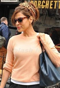 Eva Mendes hairstyle inspiration: updos and ponytails - casual and glamorous.