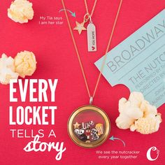 Did you see a Broadway play? Or maybe a movie premier? Tell your story the Origami Owl way - build a locket