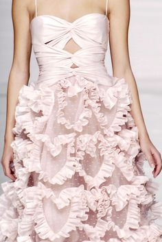 a dress filled with ruffle hearts! Valentino Spring 2006