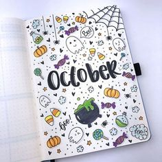 ideas for weekly spreads studygram study gram calligraphy writing idea inspiration month dates study college leaf layout one page tips quotes washi tape bullet journal bujo planner halloween october Bullet Journal School, Bullet Journal 2019, Bullet Journal Notebook, Bullet Journal Ideas Pages, Bullet Journal Inspiration, Journal Pages, Bullet Journals, Bullet Journal October Theme, Bullet Journal Halloween