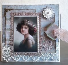 Picture Frame Decor, Vintage Scrapbook, Scrapbook Designs, Card Making Techniques, Vintage Cards, Cardmaking, Projects To Try, Shabby Chic, Greeting Cards