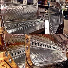 sheet metal design bench seat art fabrication dimples rivets sheetmetal