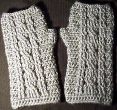 "Free pattern for ""Cable Wrist Warmer"" by JR Crochet Designs!"