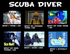 What people think about scuba #diving ;)
