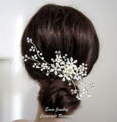 Wedding Hair AccessoriesLarge Bridal Hair Combs. by adriajewelry