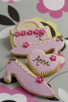 Pink Fashion cookies : Beautifully hand Iced biscuits | Juliet Stallwood Cakes & Biscuits