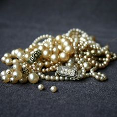 Precious pearls. Vintage rescued bead by MademoiselleChipotte, $64.95