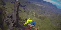 If this video doesn't help you understand why slackliners do what they do, then nothing will. Shot on a GoPro Hero 3, it begins with tranquil music and footage of a few dudes -- members of the group Slack and Run -- hiking through sunny mist near Trois Salazes, a group of three jagged rocks that shoot 6,890 feet above the jungle on the island of La R�...
