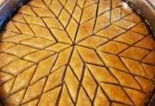 Δείτε την τεχνική για να κόβετε τον Μπακλαβά Almond Recipes, Greek Recipes, Deserts, Pie, Tasty, Food, Torte, Cake, Fruit Cakes