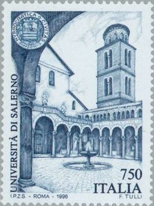 Italy stamp 1996 - University of Salerno Old Stamps, Vintage Stamps, Postage Stamp Design, Domino Art, Interesting Buildings, Thinking Day, Cristiano, Mail Art, Stamp Collecting