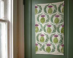 Rustic Scottish Thistle linen tea towel by giardino on Etsy, $24.00