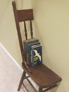 Spindle Back Half Chair Art/Shelf - Make an artistic statement with this floor or hanging wall shelf.