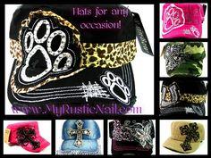 HATS! SO CUTE! Www.MyRusticNail.com