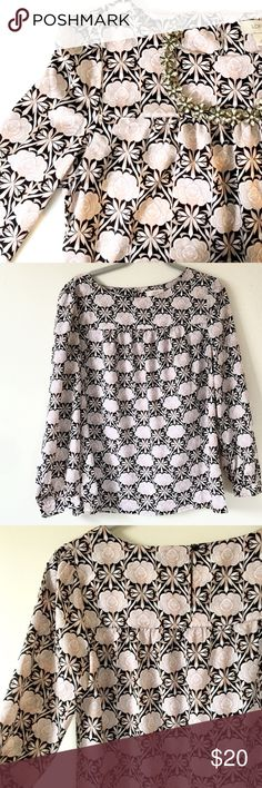 LOFT Floral Top LOFT always delivers feminine and on-trend clothing.   Details: Gently used. Retail $50. Long-sleeve LOFT Top with a pale pink and black Floral pattern. Button clasp at back of neck. Size Medium.   Kate Harrington Boutique does not trade or negotiate price in the comment section. However, for most items we may consider reasonable offers.   Happy Poshing! LOFT Tops Blouses