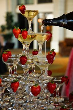 Starting The Dinner Party off with a BANG - impress with a champagne tower