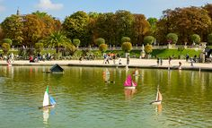 Sailboats at the Jardin du Luxembourg pond in Paris. See more kid-friendly #Paris activities here: http://www.nyhabitat.com/blog/2013/02/25/kids-activities-paris-family-holiday/